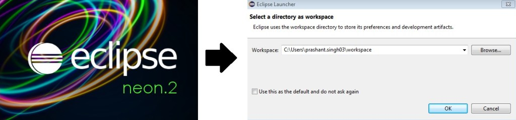 Workspace prompt in Eclipse Neon 2