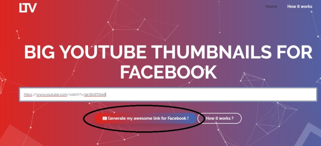 click on button to generate full thumbnail video