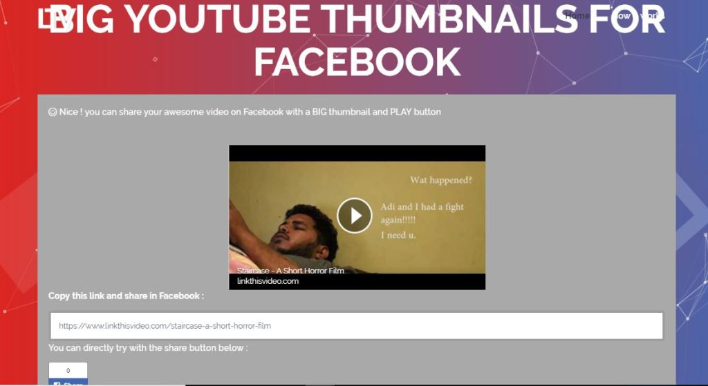 How to Share Youtube Videos in Full Thumbnail Size on Facebook