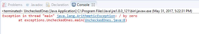 unchecked exception error in java