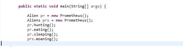 calling method using interface reference type