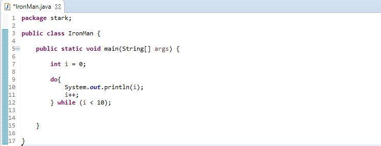 do while loop java example