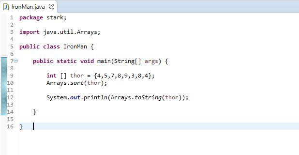 how to sort an array using Arrays sort method