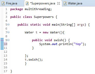 Anonymous class using Interface in Java