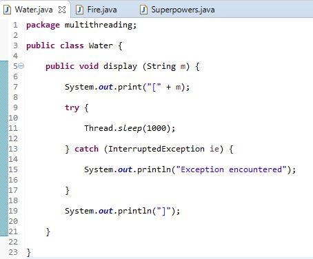 water class in java