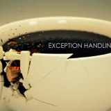coffee cup breaking exception handling in java