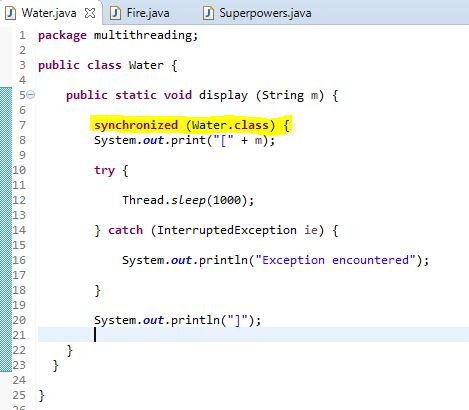 synchronized block inside static method
