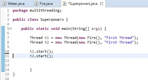 two threads in java