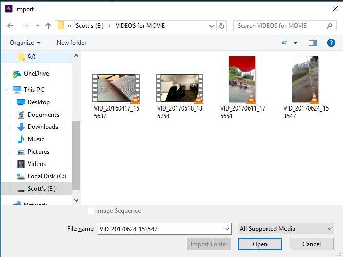 import video in premiere pro cc 2015