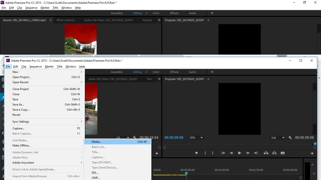 exporting a video in premiere pro cc 2015