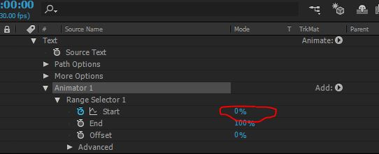 animator options and properties