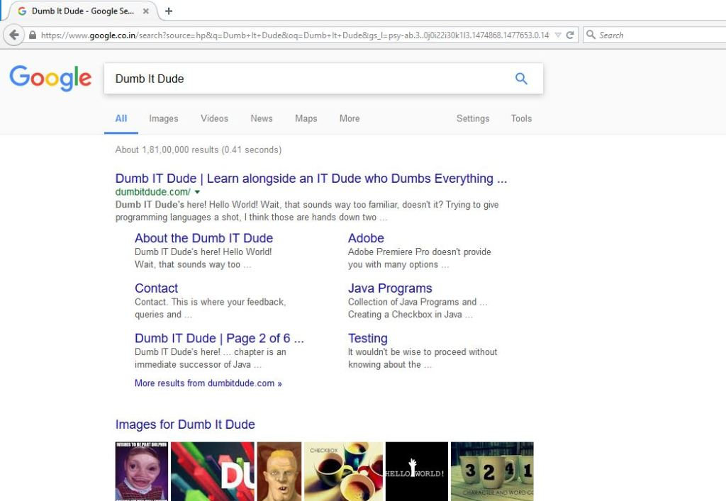 dumb it dude google search