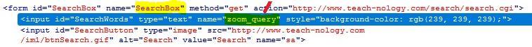 names in HTML