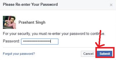 enter your password once again