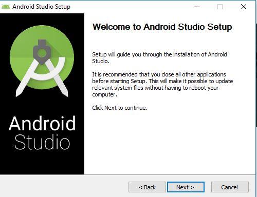 setup of android studio