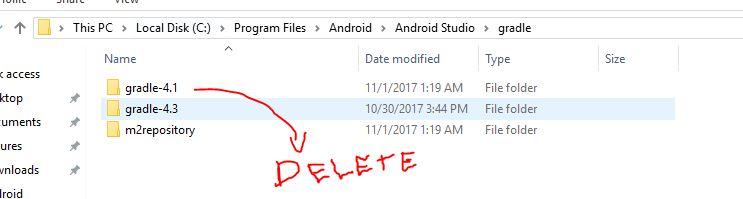 delete previous gradle version