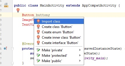 import class in android studio