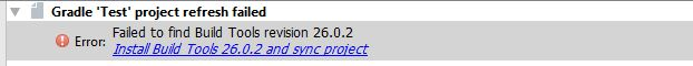 install build tools error message