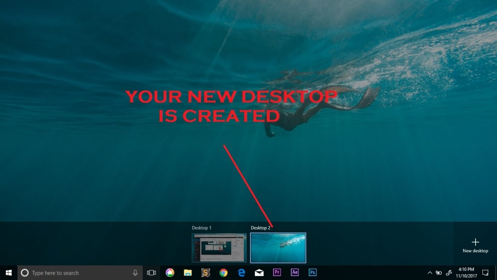 your new desktop thumbnail view