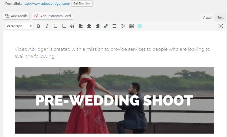 image in wordpress editor