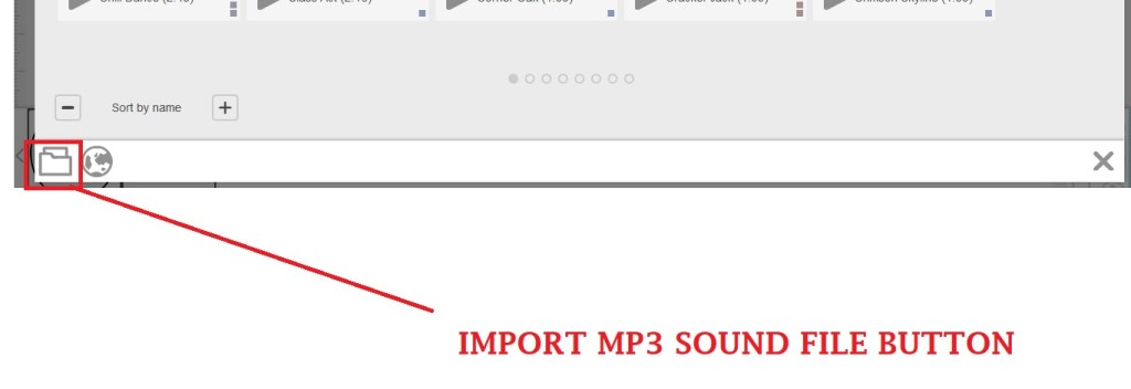 import music file button