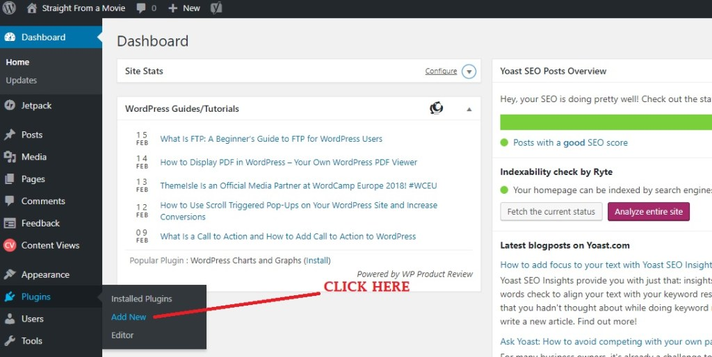 click on Add new in Plugins page