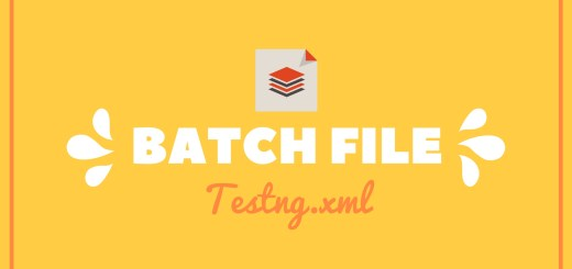 batch file how to create a batch file to Run Testng.xml