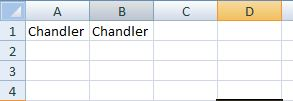 comparing two values in excel