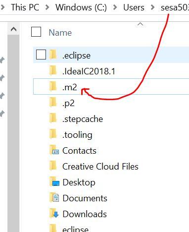 m2 location in users folder