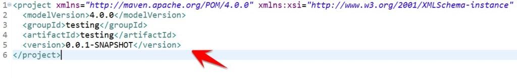 pom xml default appearance