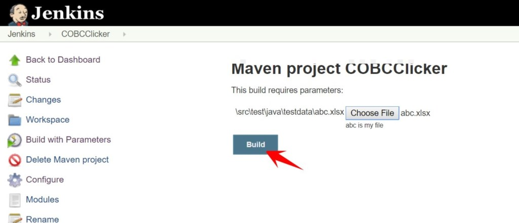 build button in jenkins