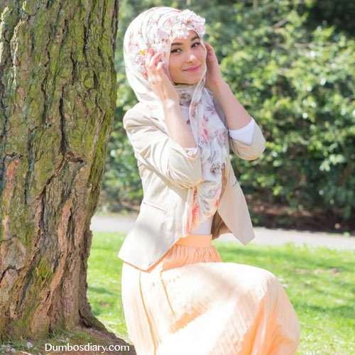 Beautiful muslim girl in garden