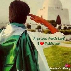 Boy saluting Quaid e Azam tomb
