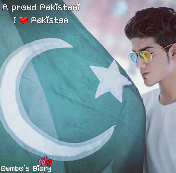 Boy with pakistani flag