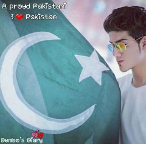 Boy with pakistani flag