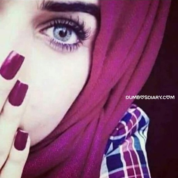 Cute pretty beautiful hijabi girl