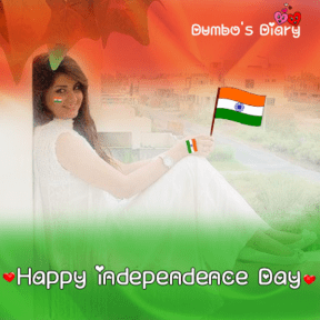 Girl with indian flag dp with quote
