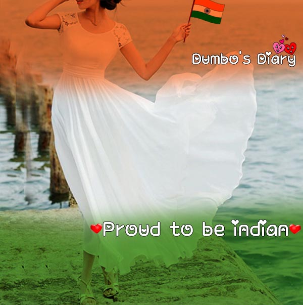 Girly republic day dp with quote