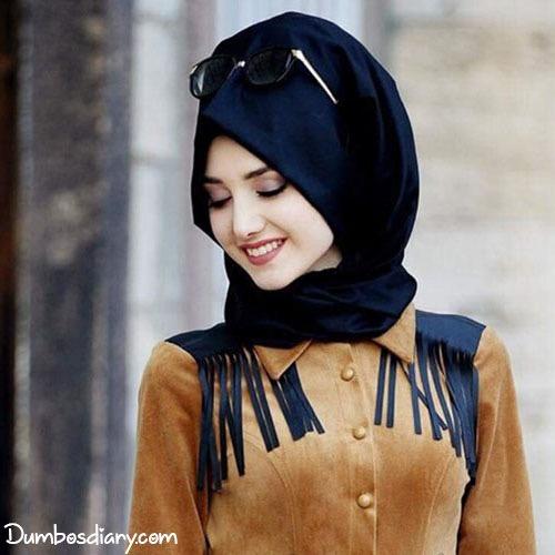 Muslim girls hijab fashion style dp for whatsapp or fb Fashion style girl hijab facebook