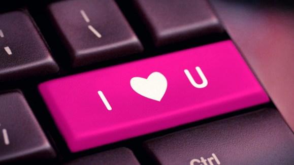 Love Keyboard wallpaper