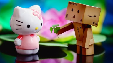 Love Kitty Robot wallpaper