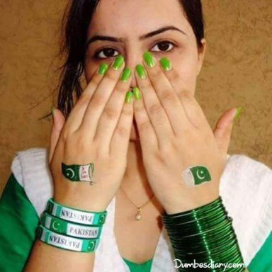 Pakistani Day DP of a girl