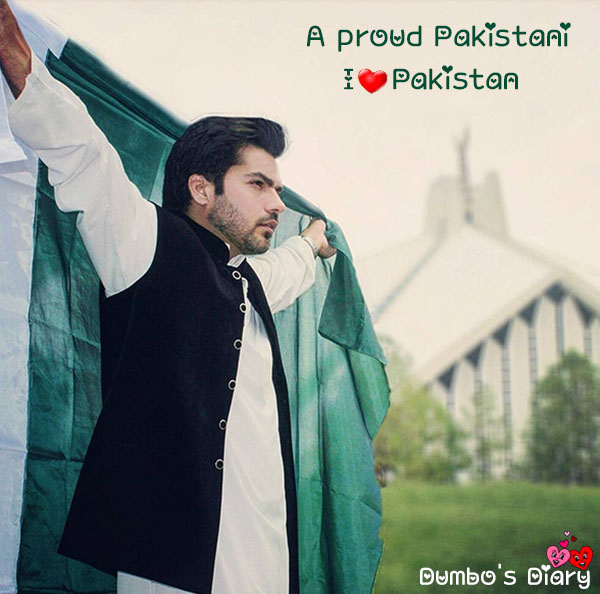 Pakistani boy with flag dp
