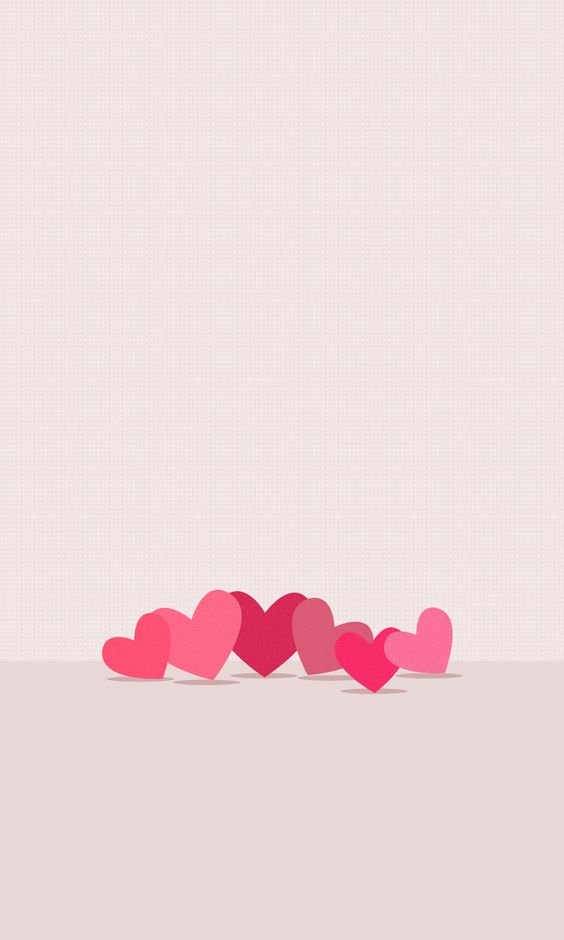 Pink hearts love whatsapp wallpaper