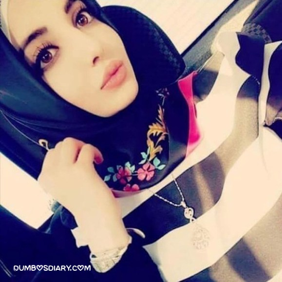 Pretty eyes innocent muslim girl in hijab