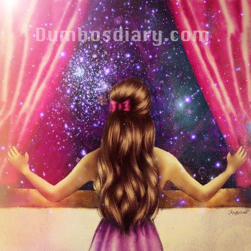 alone girl in window