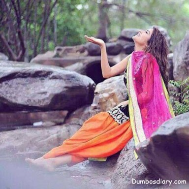 beautiful pakistani girl in beautiful dress