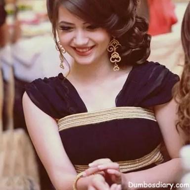 black dress pretty girl