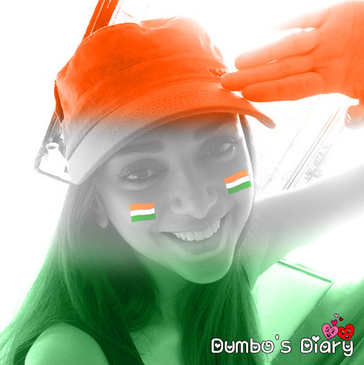 girl saluting on independence day