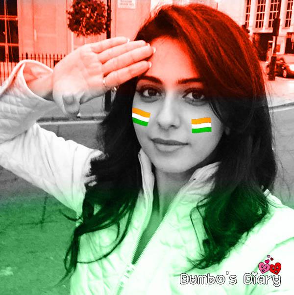 independence day girl saluting dp